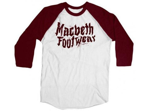 Macbeth Punk Vegan 3/4 Raglan Ox Blood