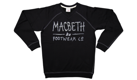 Macbeth Vegan Scribble Fleece Black