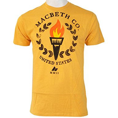 Macbeth Olympus Vegan T-Shirt Mustard
