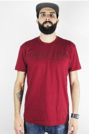 Macbeth Vintage Logo Vegan T-Shirt Ox Blood