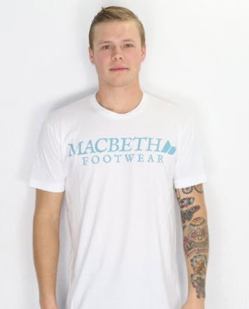 Macbeth Vintage Logo Vegan T-Shirt White