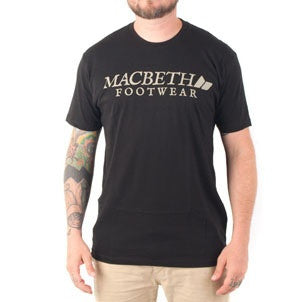 Macbeth Vintage Logo Vegan T-Shirt Black