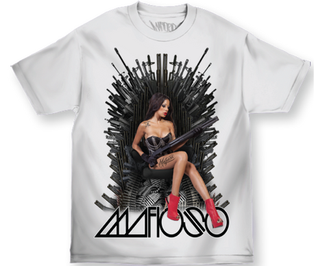 Mafioso Throne White T-Shirt Famous Rock Shop Newcastle 2300 NSW Australia