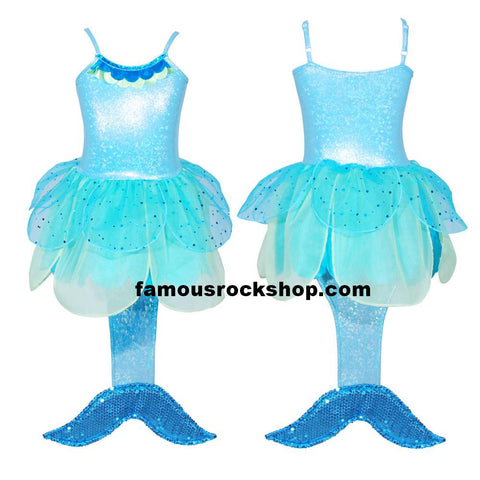 Mermaid Blue Kids TuTu Costume