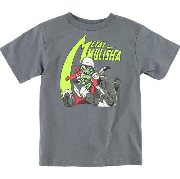 Metal Mulisha Kids Wheel T-Shirt Charcoal