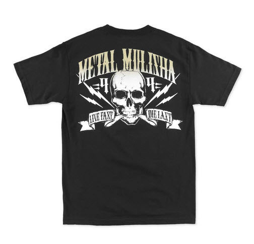 Metal Mulisha Mens Never Die Tee Black M355S18319