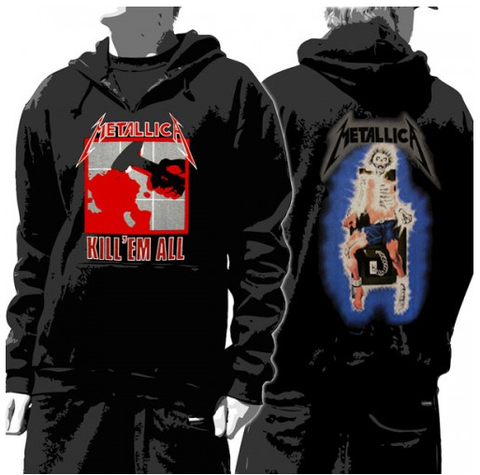 Metallica Hoddie Kill Em All - Unisex Pullover