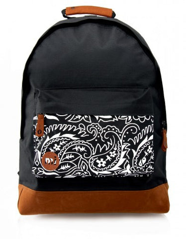 Mi Pac Pocket Print Black Paisley Backpack