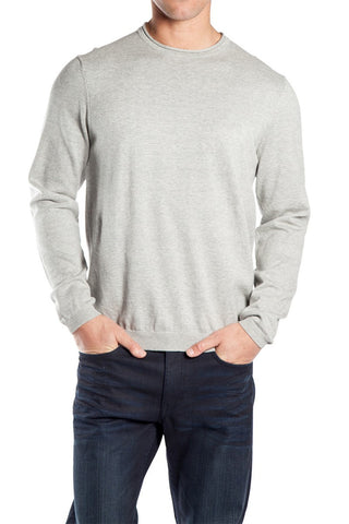 Mossimo Bedford Crew Knit Grey Marle