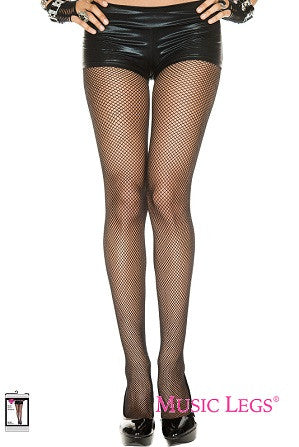 Music Legs Fishnet Seamless Pantyhose Black 9001
