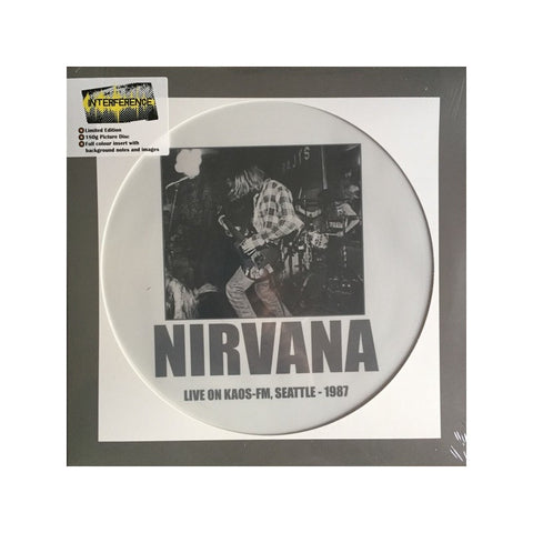 NIRVANA : LP Picture Live On Kaos-FM, Seattle - 1987 Famous Rock Shop Newcastle NSW Australia