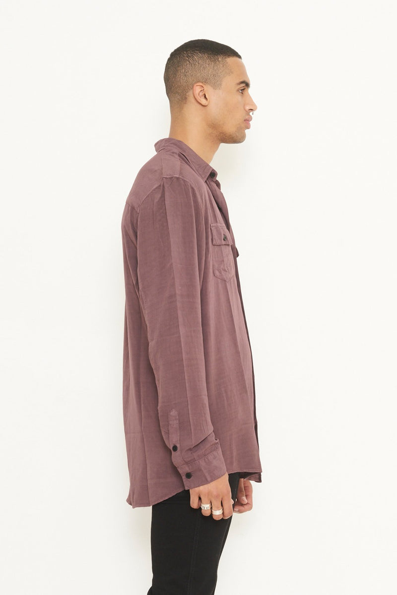Nana Judy The Whitehall Long Sleeve Shirt Burgundy
