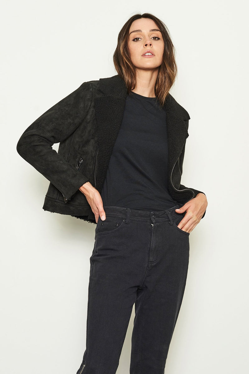 Nana Judy THE MONTICELLO BIKER JACKET Black