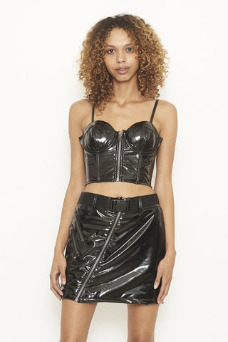 Nana Judy Arizona Bralette Black PVC Top