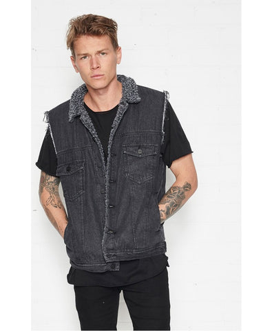 Eagle Rock Vest Washed Black
