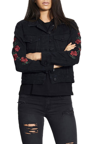 Nana Judy Heart Of Roses Jacket Black