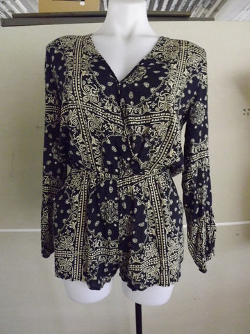 Times Ten Navy Paisley Playsuit