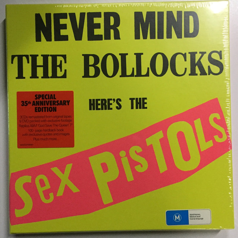Never Mind The Bollocks here's the Sex Pistols (Special 35th Anniversary Edition)- 3CD's remastered from original tapes & DVD packed with exclusive footage. Famous Rock Shop Newcastle. 517 Hunter Street Newcastle, 2300 NSW Australia