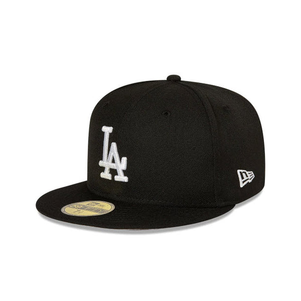 New Era Los Angeles Dodgers Black 59FIFTY Fitted Hat 70000604 Famous Rock Shop Newcastle, 2300 NSW. Australia. 1