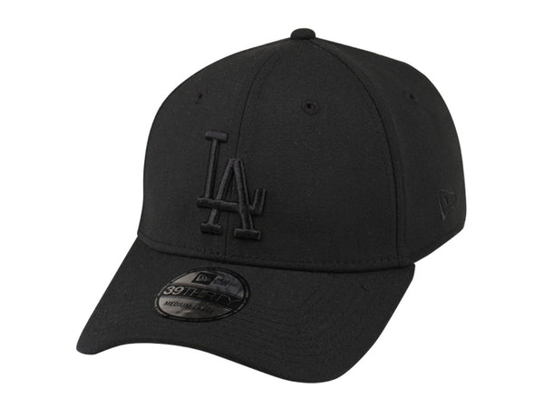 New Era 39Thirty MLB Los Angeles Dodgers Black Black Cap Fitted Famous Rock Shop Newcastle NSW Australia