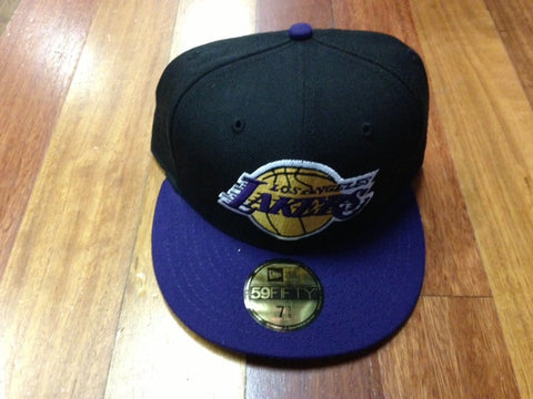 New Era 9Fifty Lakers Fitted Cap Black Purple
