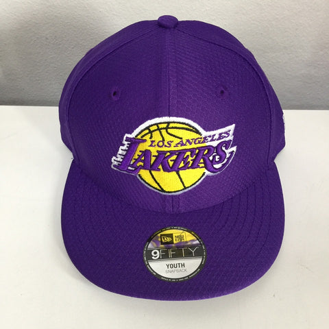 New Era 9Fifty 12157804 Youth Adjustable Snapback Los Angeles Lakers Purple KID950 LOSLAK