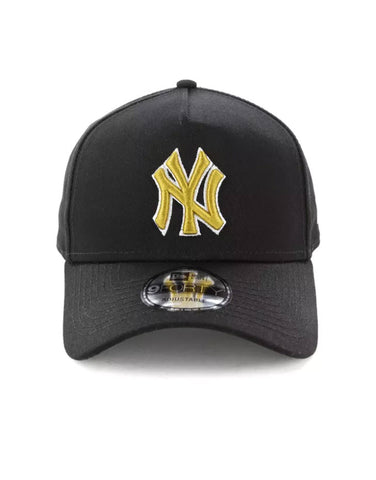 New Era New York Yankees 9FORTY A-Frame Snapback Black Gold 11587565 Famous Rock Shop Newcastle, 2300 NSW. Australia. 1