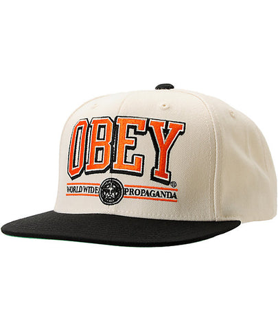Obey Athletics Snapback Natural Black