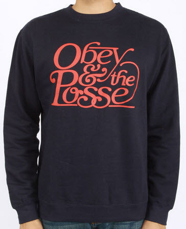 Obey Boca Raton Navy Crew Neck - Famous Rock Shop  Newcastle 2300 NSW Australia