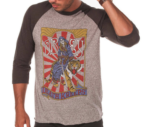 Obey Death Kreeps Raglan Heather Grey