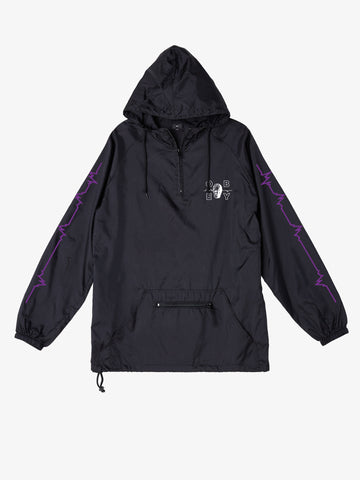 Obey Wave Lengths Anorak Jacket Black