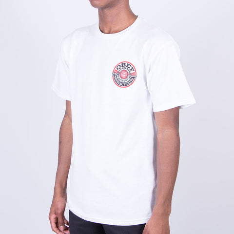 Obey Dissent MFG Wreath Tee White