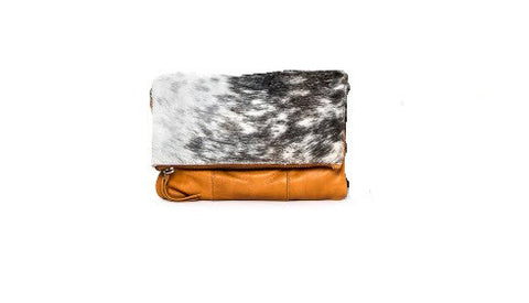 Oran Leather Danni Tan Clutch