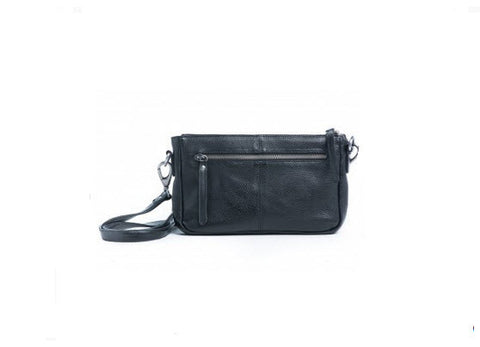 Oran Leather Mali Bag Black