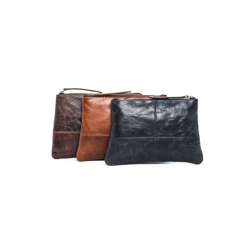 Oran Leather Stephanie Cognac Clutch