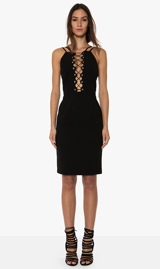 Premonition PARALLEL DRESS - Black