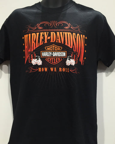 Harley Davidson 'How We Roll' T-Shirt Famous Rock Shop Newcastle 2300 NSW Australia