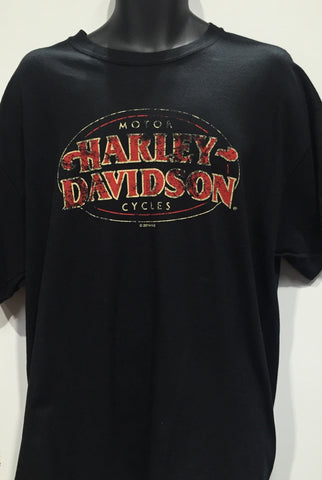 Harley Davidson 'Vintage MC' T-Shirt Famous Rock Shop Newcastle 2300 NSW Australia