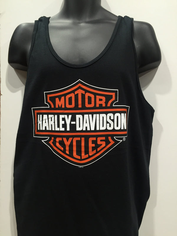 Harley Davidson Motorcycles Bar and Shield Tank Black. Men's Sizing Small-2XLarge  Famous Rock Shop Newcastle 2300 NSW Australia