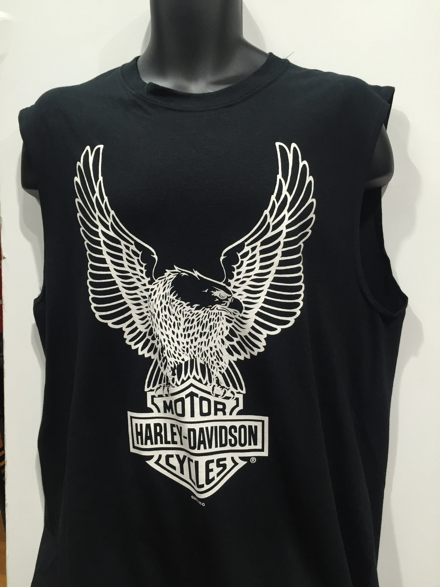 904fbb996 Harley Davidson Motorcycles Eagles Bar and Shield Muscle Tee Black. Men's  Sizing Small-2XLarge