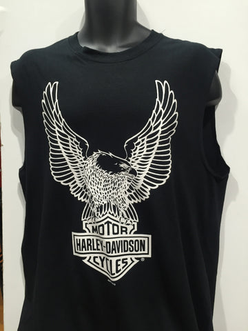 Harley Davidson Motorcycles Eagles Bar and Shield Muscle Tee Black. Men's Sizing Small-2XLarge  Famous Rock Shop Newcastle 2300 NSW Australia