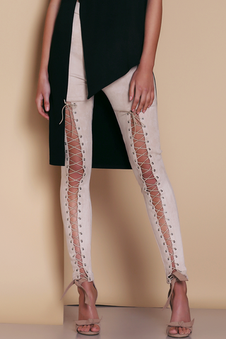 Premonition Rebound Pants Vegan Suede Latte AS173003