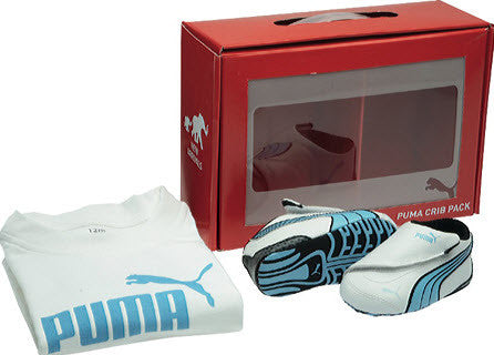 Puma Drift Cat III Crib Pack White/Etheral Blue/Black 350500 02
