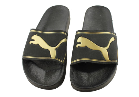 Puma King II Slide - Black with Gold