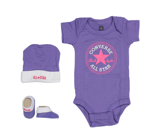 Converse Purple Crib Set