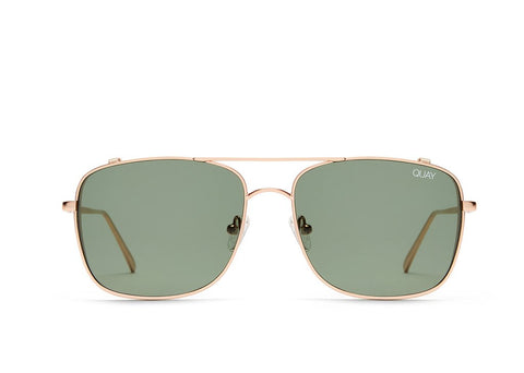 Quay Australia Weekend Warrior Gold/ Green Sunglasses