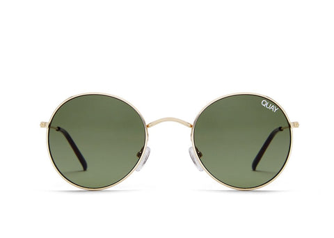 Quay Australia Mod Star Gold/ Green Sunglasses