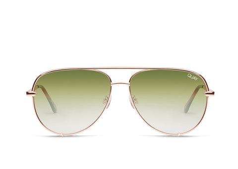 Quay Australia High Key Mini Rose/ Grnfd Sunglasses
