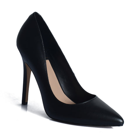RMK Cian Black Leather Heels