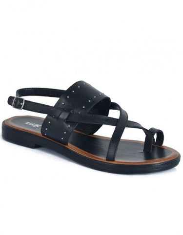 RMK Rene Black Leather Sandals